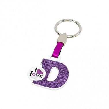 Porte-clés Lettre D