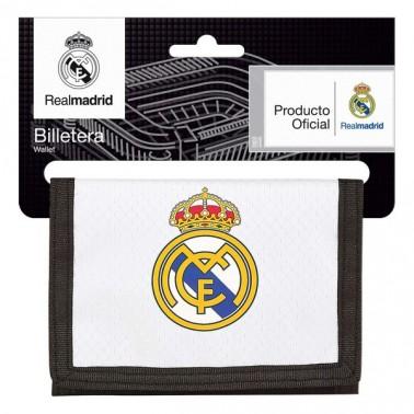 Portefeuille Real Madrid C.F. 18/19 Blanc Noir